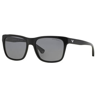 Emporio Armani Men's EA4041 Plastic Square Polarized Sunglasses