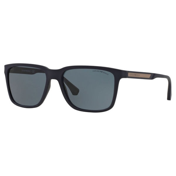 de7e34c502 Shop Emporio Armani Men s EA4047 Square Sunglasses - Blue - Free ...