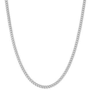 Gioelli Sterling Silver Adjustable Curb Link Chain Necklace