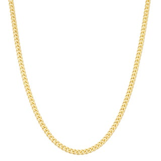 Gioelli Goldplated Sterling Silver Adjustable Curb Link Chain Necklace