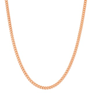 Gioelli Rose Goldplated Sterling Silver Adjustable Curb Link Chain Necklace