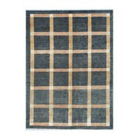 Handmade Herat Oriental Afghan Tribal Vegetable Dye Gabbeh Wool Rug (Afghanistan) - 4'11 x 6'7