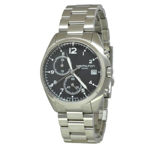Hamilton Men's Khaki Aviation Black Watch. Opens flyout.