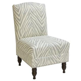 Skyline Furniture Armless Nail Button Chair in Sudan Graphite