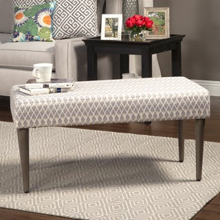 HomePop Gray Diamond Decorative Bench