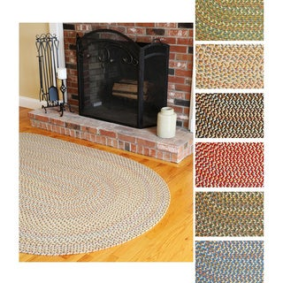 Cozy Cove Indoor/ Outdoor Braided Rug by Rhody Rug (8' x 11') (Option: Olive)