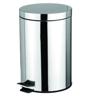 Home Basics Stainless Steel 12-liter Waste Basket