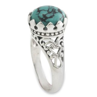 Handmade Sterling Silver 'Sovereignty' Turquoise Ring (Indonesia)
