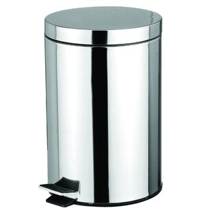 Home Basics Stainless Steel 5-liter Waste Basket