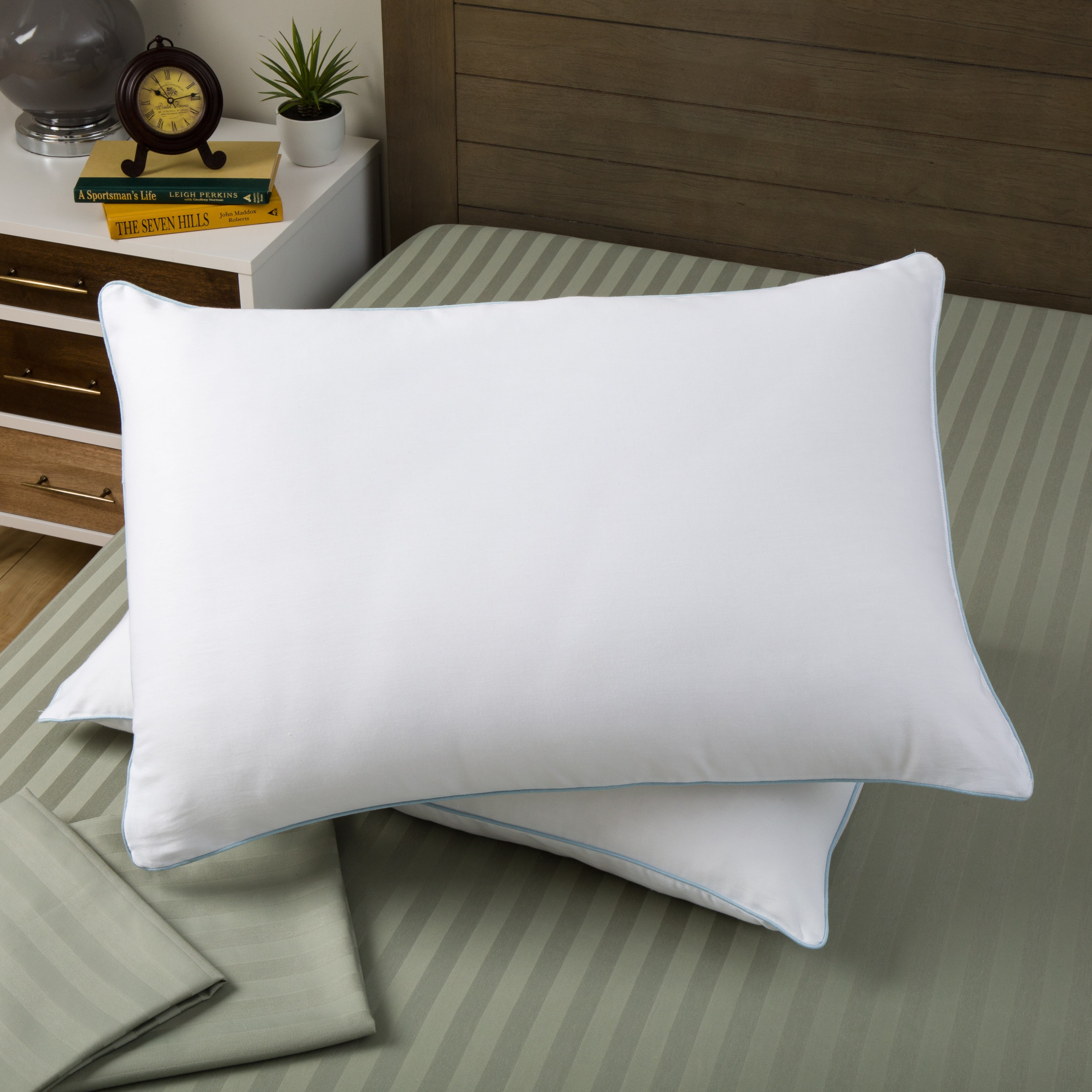 "Bedding Essentials Neckroll Pillow 6/"" X 15/"" Hypoallergenic Poly Fiberfill"