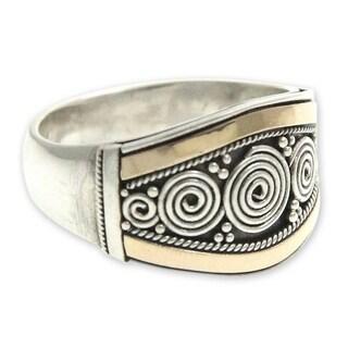 Handmade Gold Overlay 'Celuk Legend' Ring (Indonesia)