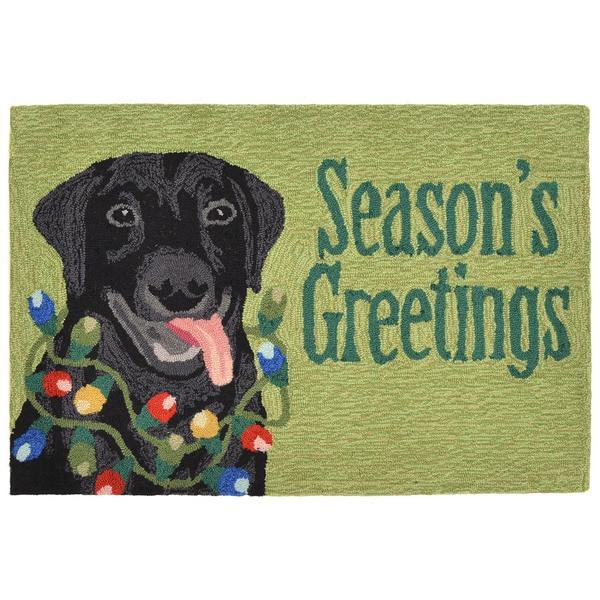 Shop Christmas Dog Outdoor Rug (3' x 6')