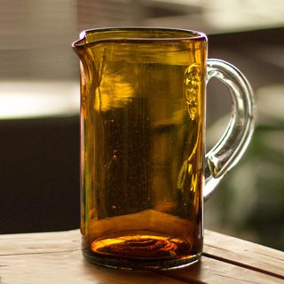 Handcrafted Blown Glass 'Amber' Pitcher (Mexico)