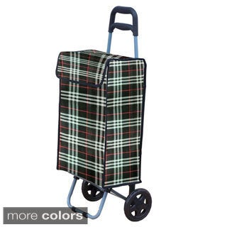 Home Basics Plaid Shopping Cart