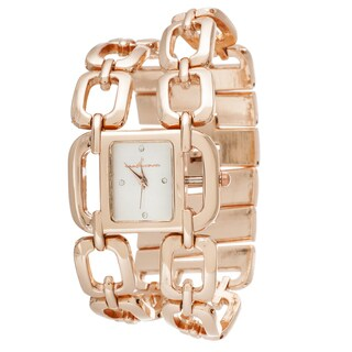 Via Nova Women's Rose Square Case and Chain Strap Watch