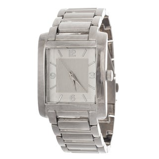 Via Nova Women's Silver Square Case and Strap Watch