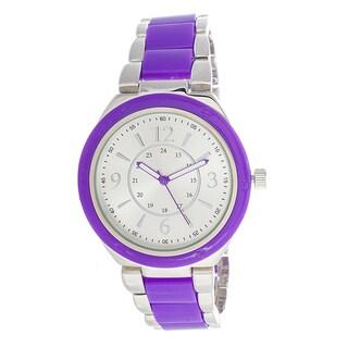 Xtreme Boyfriend Women's Silver Case / Purple Strap Watch