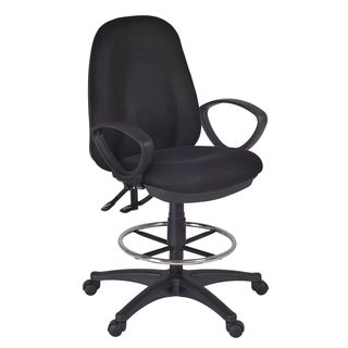 Momentum Task Black Swivel Stool