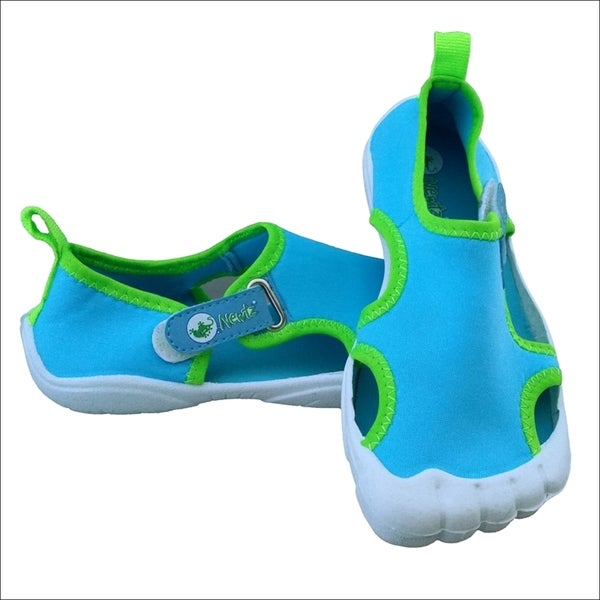 boys navy seal solid aqua lime white water shoes free