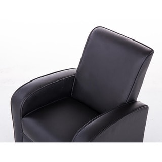 Comfortable KR2021BK PU Leather Kids Recliner