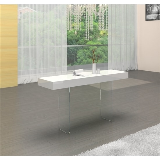 Casabianca Home Il Vetro Collection High Gloss White