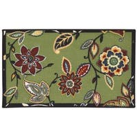 Waverly Fancy Free and Easy Lively Trail Celery Area Rug by Nourison - 2'6 x 4'