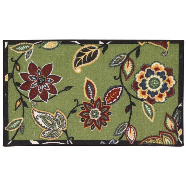 Waverly Fancy Free and Easy Lively Trail Celery Area Rug by Nourison (2'6 x 4') - 2'6 x 4'