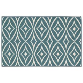 Waverly Fancy Free and Easy Centro Aqua Area Rug by Nourison (1'8 x 2'10)