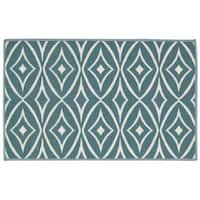 Waverly Fancy Free and Easy Centro Aqua Area Rug by Nourison