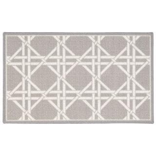 Waverly Fancy Free and Easy Garden Lattice Stone Area Rug by Nourison (1'8 x 2'10)