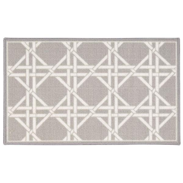 Waverly Fancy Free and Easy Garden Lattice Stone Area Rug by Nourison - 2'6 x 4'