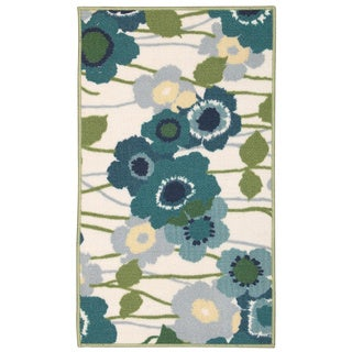 Waverly Fancy Free and Easy Pic-a-Poppy Ocean Area Rug by Nourison (2'6 x 4')