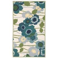 Waverly Fancy Free and Easy Pic-a-Poppy Ocean Area Rug by Nourison - 2'6 x 4'