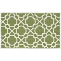 Waverly Fancy Free and Easy Perfect Fit Celery Area Rug by Nourison - 1'8 x 2'10