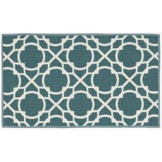 Waverly Fancy Free and Easy Perfect Fit Aqua Area Rug by Nourison (2'6 x 4')