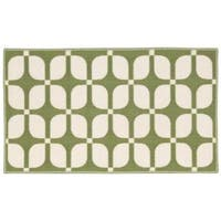 """Waverly Fancy Free and Easy Unparralleled Celery Area Rug by Nourison (2'6 x 4') - 2'6"""" x 4'"""
