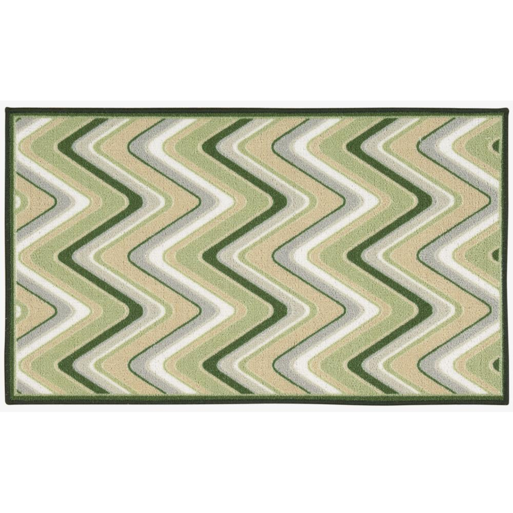 Waverly Fancy Free and Easy Sand Art Celery Area Rug by N...