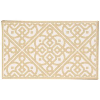 Waverly Fancy Free and Easy Lace It Up Gold Area Rug by Nourison (2'6 x 4')