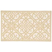 Waverly Fancy Free and Easy Lace It Up Gold Area Rug by Nourison (2'6 x 4') - 2'6 x 4'
