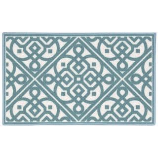 Waverly Fancy Free and Easy Lace It Up Teal Area Rug by Nourison (2'6 x 4')