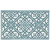 Waverly Fancy Free and Easy Lace It Up Teal Area Rug by Nourison (2'6 x 4') - 2'6 x 4'