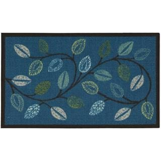 Waverly Fancy Free and Easy Leaflet Ocean Area Rug by Nourison (2'6 x 4')