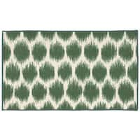 Waverly Fancy Free and Easy Seeing Spots Emerald Area Rug by Nourison - 1'8 x 2'10