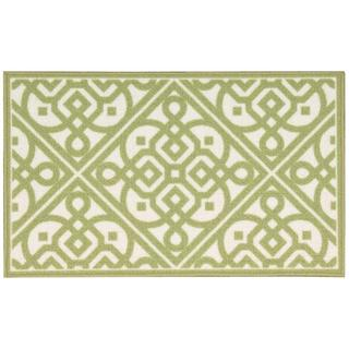Waverly Fancy Free and Easy Lace It Up Celery Area Rug by Nourison (1'10 x 4'6)