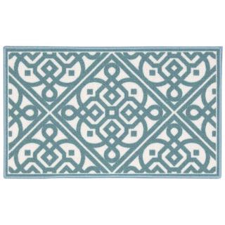 Waverly Fancy Free and Easy Lace It Up Teal Area Rug by Nourison (1'10 x 4'6)