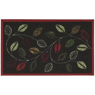 Waverly Fancy Free and Easy Leaflet Charcoal Area Rug by Nourison (1'8 x 2'10)
