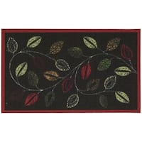 Waverly Fancy Free and Easy Leaflet Charcoal Area Rug by Nourison (2'6 x 4')