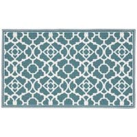 Waverly Fancy Free and Easy Lovely Lattice Teal Area Rug by Nourison (1'8 x 2'10)
