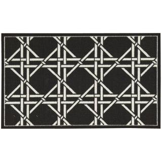 Waverly Fancy Free and Easy Garden Lattice Charcoal Area Rug by Nourison (2'6 x 4')