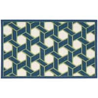 Waverly Fancy Free and Easy Shoji Ocean Area Rug by Nourison (1'8 x 2'10)